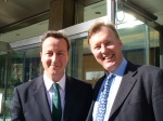 Bill with David Cameron