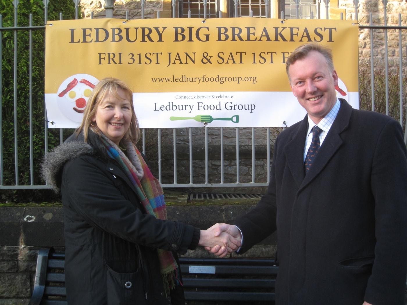 Bill and Fran Robinson,  Chair of Ledbury Food Group