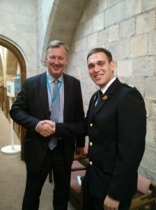 Bill with RSPCA Inspector Matt Gough