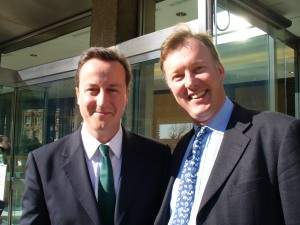 Bill with David Cameron