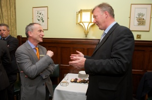 Bill Wiggin MP and Dairy Crest Corporate Affairs Director, Arthur Reeves