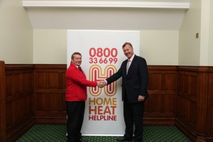 Bill Wiggin MP with Neil Stoker Home Heat Helpline advisor