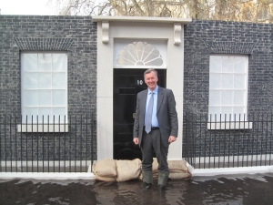 Bill hopes flood defences will be so good that Downing Street will flood before Herefordshire.