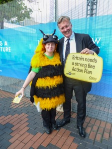 Bill Wiggin MP Bees at Conference
