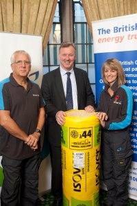 Bill Wiggin MP met British Gas engineers  Nigel Doubleday and Janie Eley.