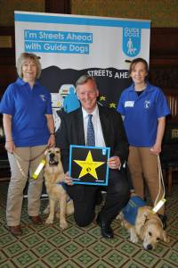 Bill with Guide Dogs 10.6.15