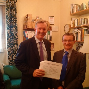 Bill with Niall Duffy of IPSO